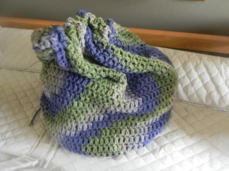 Crochet Laundry Bag : drawstring laundry bag Crochet christmas gifts Pinterest