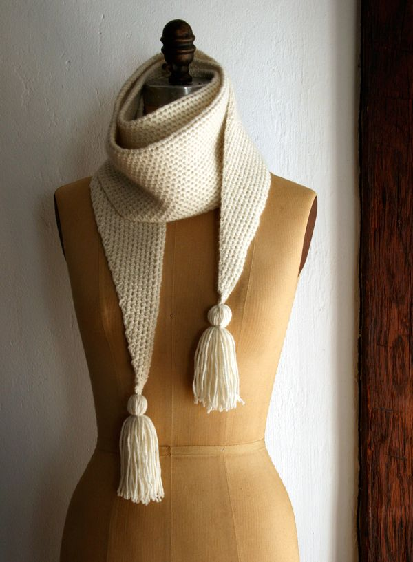 Could do with learning a new stitch  Grecian Rib Scarf - the purl bee
