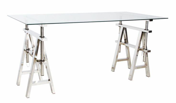 Adjustable Glass Desk