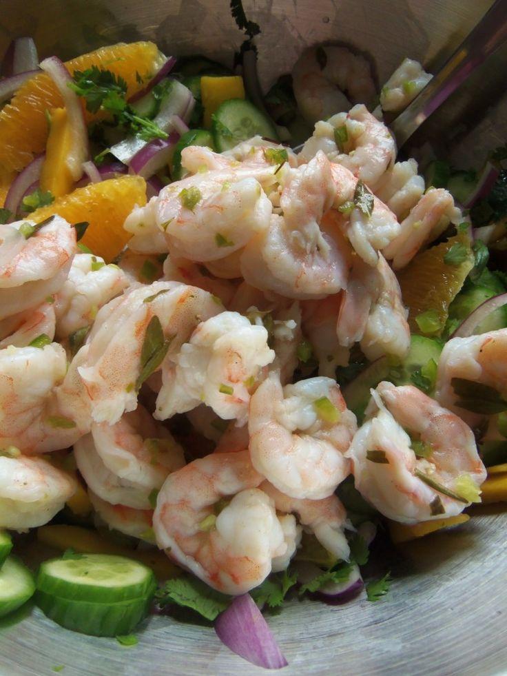 Tropical Shrimp Ceviche in Agua Chile – Hispanic Kitchen