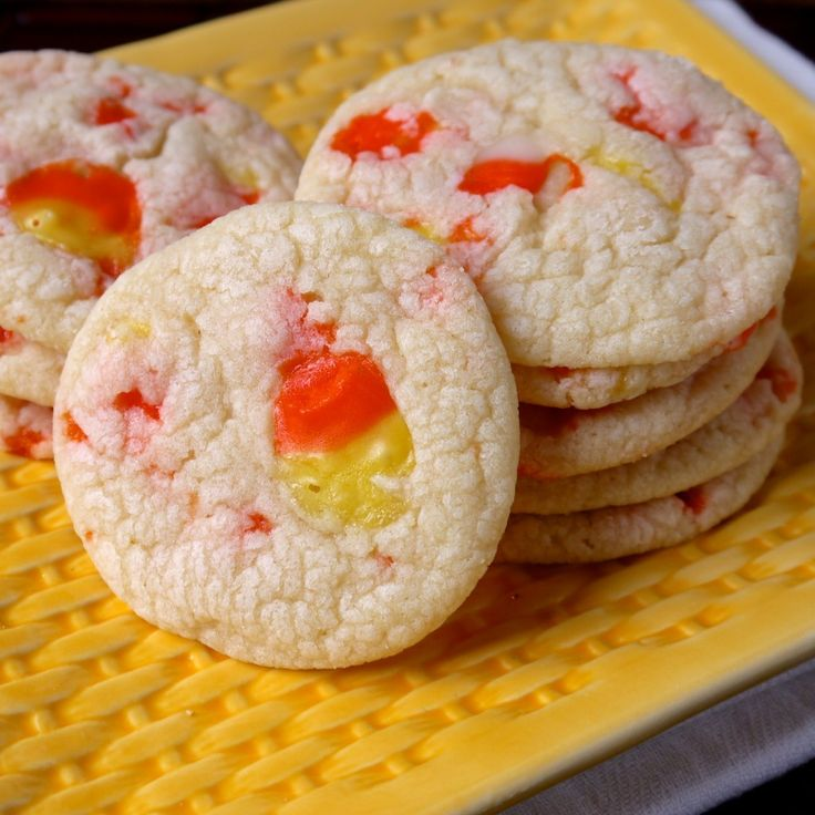 ... corn, and just a little bit of time you've got Candy Corn Cookies