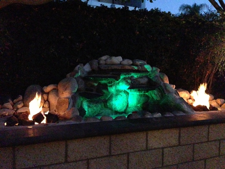 Water And Fire Features For Backyards : Cool water fire feature for backyard  Backyard  Pinterest