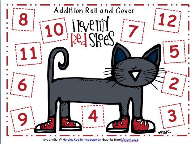 Pete the cat math mat