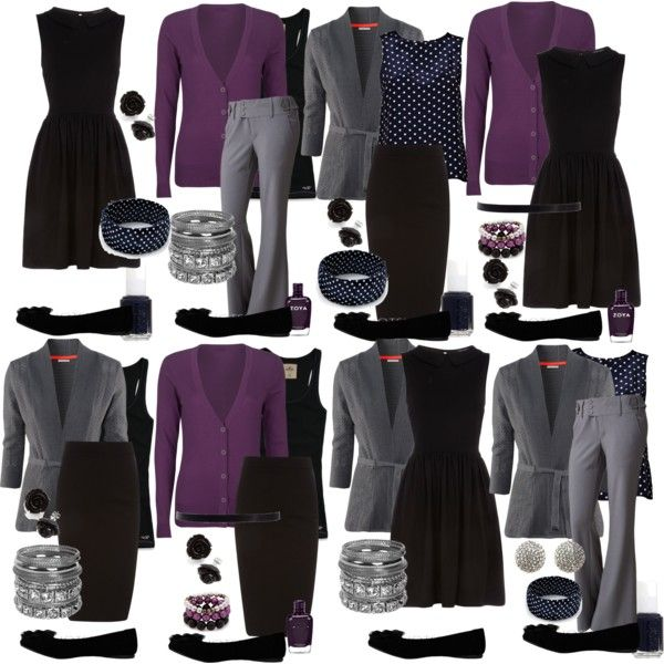 Teacher Outfits on a Teacher's Budget: Mix and Match-- Good Idea to find basics like this. I'd need a few more colors to add variety and some pop.