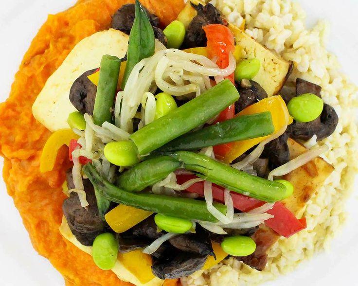Mushroom & Seared Tofu Stir Fry - Wild mushrooms, seared tofu, edamame ...