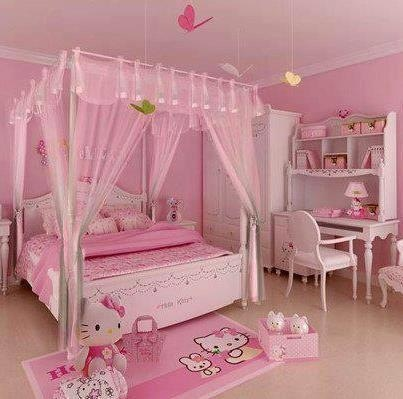 girls room hello kitty gabriella pinterest. Black Bedroom Furniture Sets. Home Design Ideas