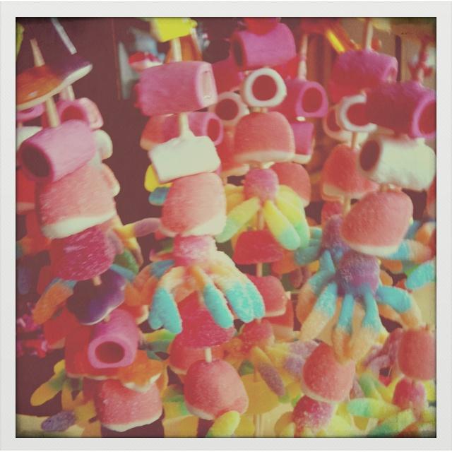 Brochetas dulces para fiestas!!!