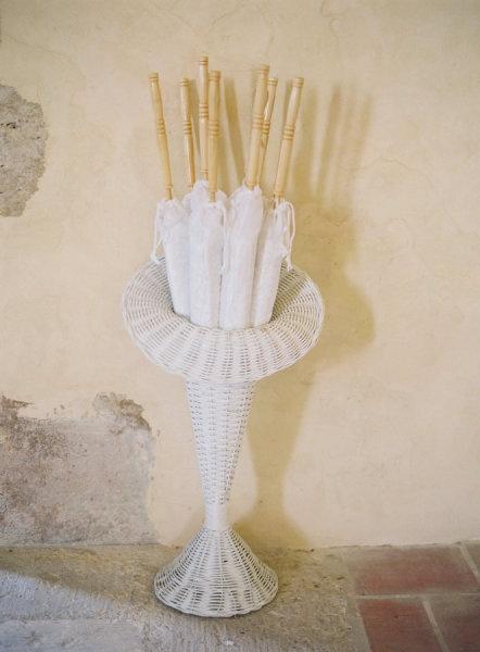 Really pretty white lace parasols