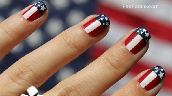 4th of july themed nail art