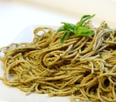 Vegan Basil Pesto Pasta. This is one (and still is) my favorite ...