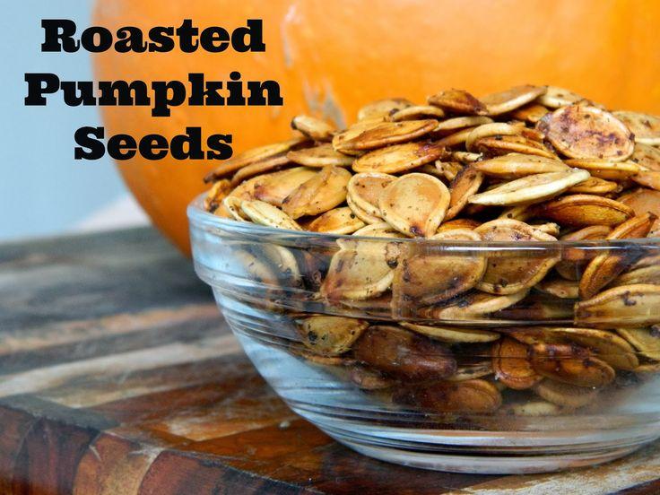 Roasted Pumpkin Seeds} | Happy Halloween | Pinterest