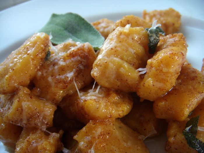 Pumpkin gnocchi with sage brown butter! | What's for Dinner ...
