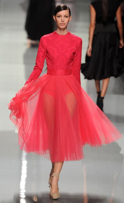 Pink tulle / Dior Fall 2012 (pants optional!)