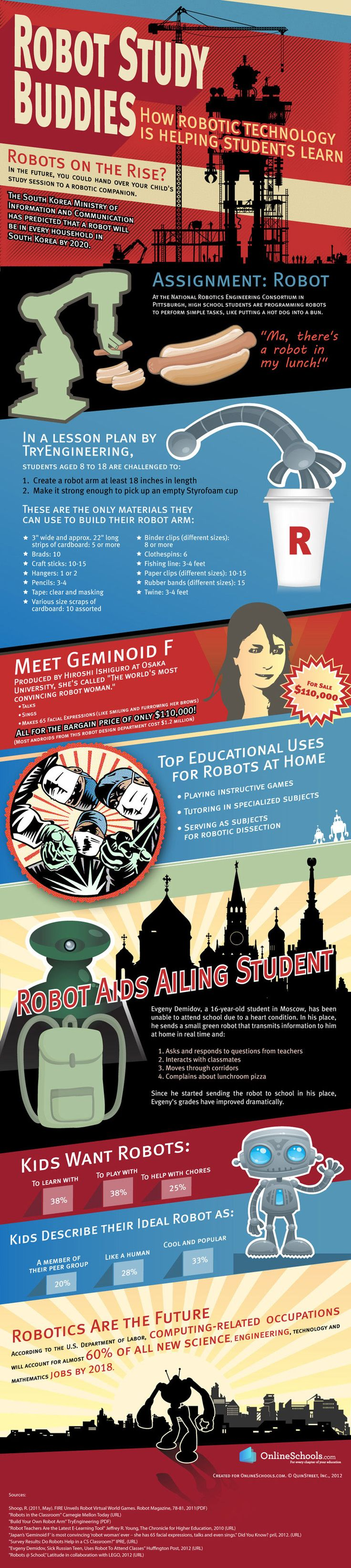 Robots as Teaching Aides Infographic
