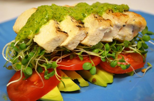 Grilled Chicken with Chimichurri Sauce - Chimichurri sauce is ...