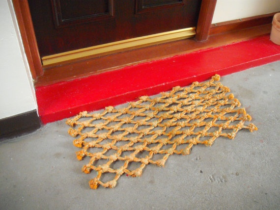Beach Hut Doormat by NobleHeartCreations on Etsy, £13.00