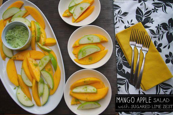 mango apple salad with sugared lime zest | Digital Cookbook | Pintere ...