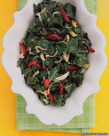 Swiss Chard with Olives--Sauteed Swiss chard with onion, garlic ...
