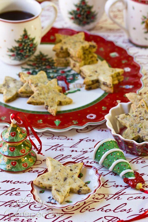 Pistachio-Chocolate Shortbread Recipe | ASpicyPerspective.com #cookies ...
