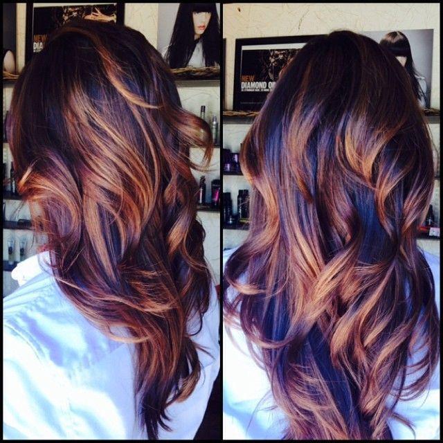 autumn swirls hair color dark brown hairs