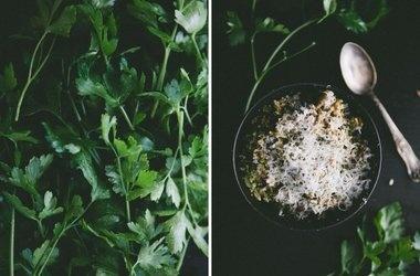 Creamy Parsley Pesto — Punchfork yessss | Good Eats | Pinterest