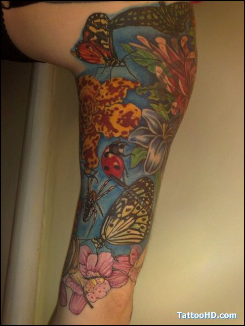 Sleeve idea my garden sleeve tattoo ideas pinterest for Garden tattoos designs