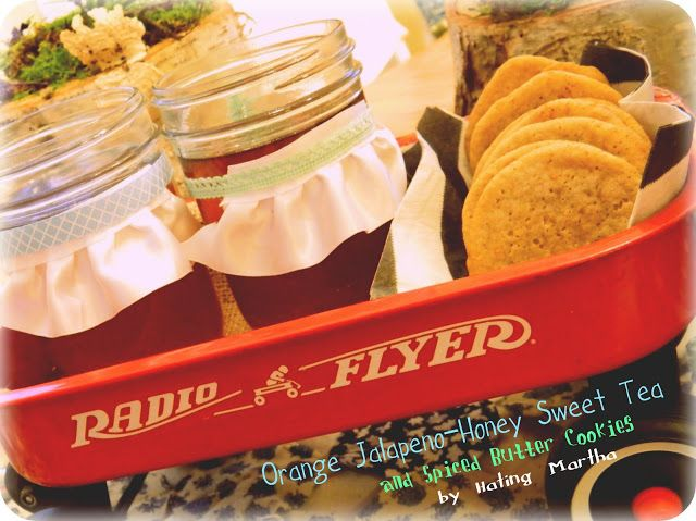 Orange Jalapeno-Honey Sweet Tea and Spiced Butter Cookies
