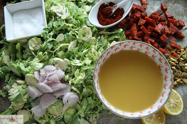 Shredded Brussels Sprouts with Chorizo and Paprika by Heather Christo ...
