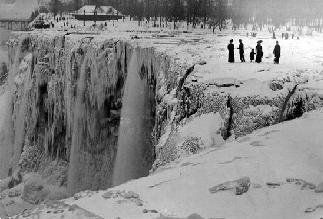 Frozen Solid in 1911, Niagra Falls, Niagara Falls, New York