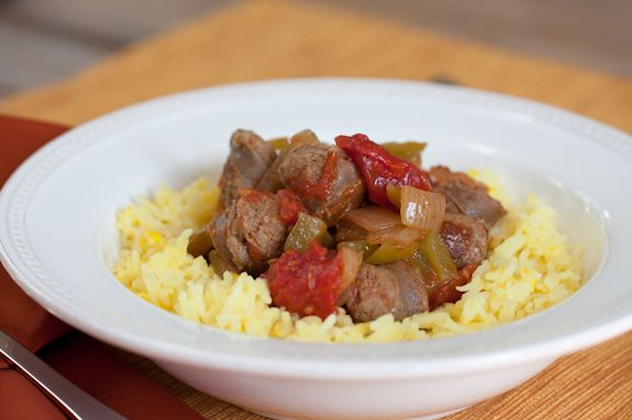 Sausage, Peppers and Onions with Saffron Rice and A trip to Salt-Lick ...