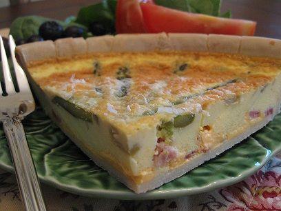 Gluten Free Asparagus, Prosciutto Quiche Slice