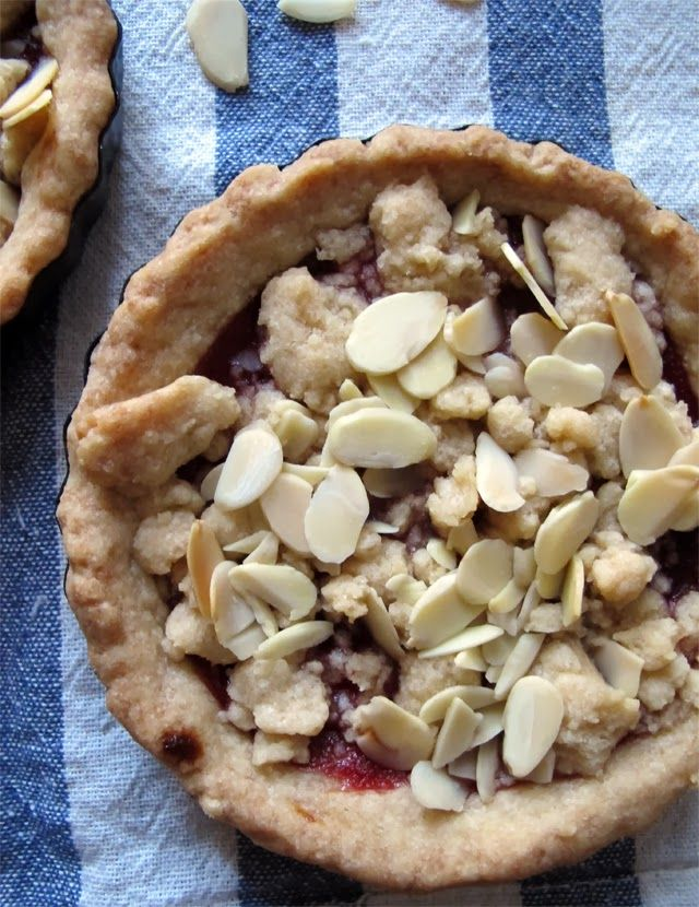 meadows cooks: cranberry-almond shortbread tartlets {theleftoversclub}