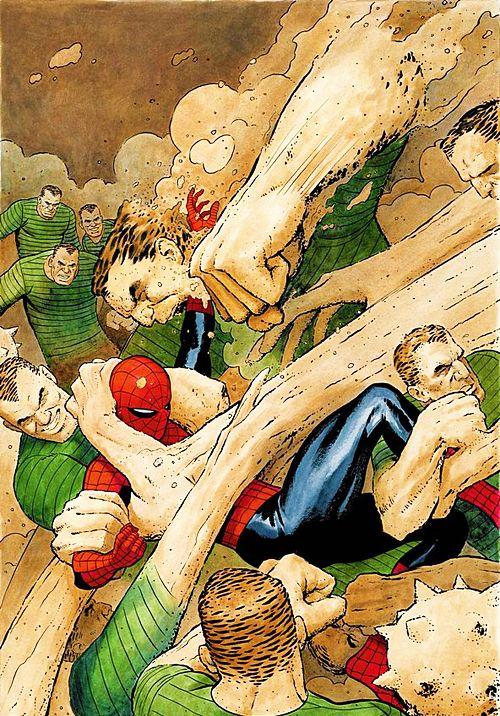Spider-Man vs Sandman by Paolo Rivera | Super Hero | Pinterest