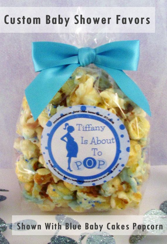 12 about to pop personalized baby shower popcorn party favors