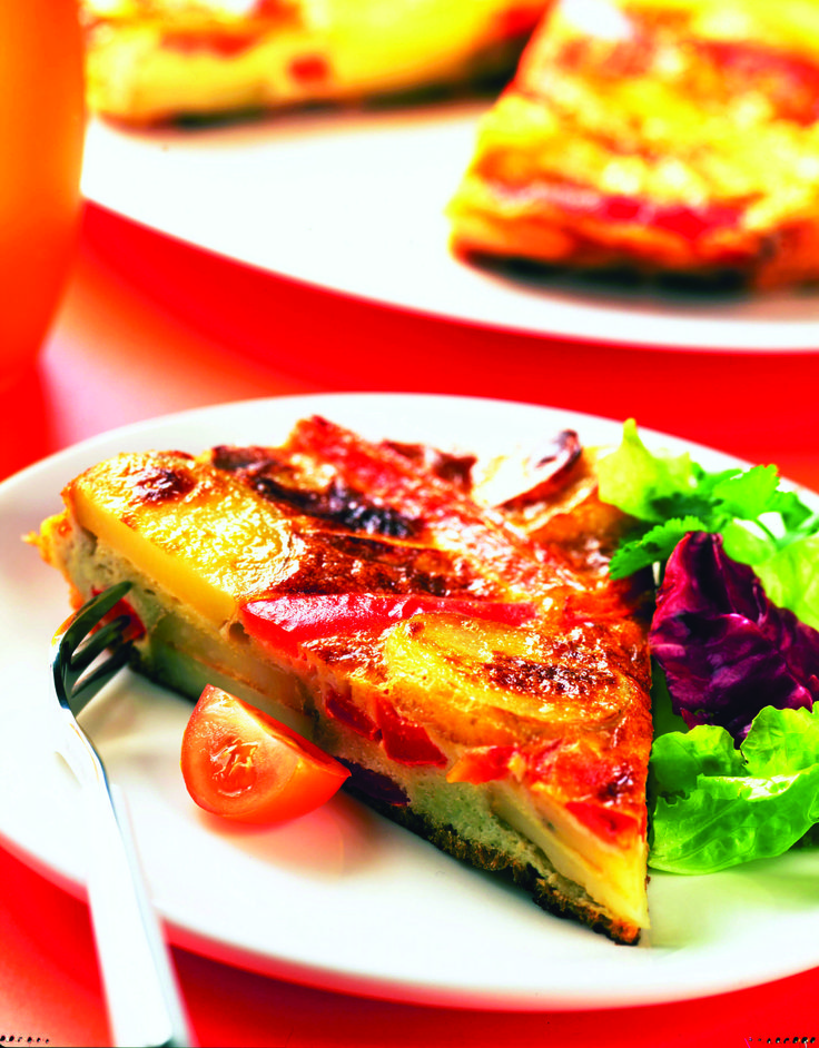 Potato and Red Pepper Frittata #PotatoGoodness