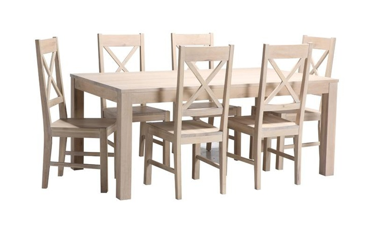 dining table white wash dining table