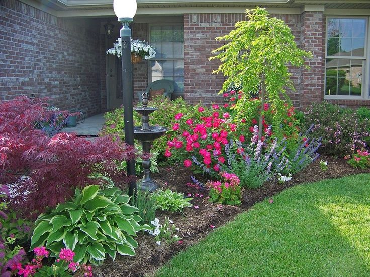 front of house flower garden landscaping ideas pinterest