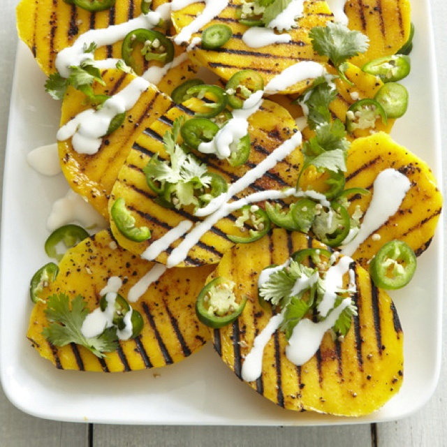 Grilled Mangoes With Jalapeno Vinaigrette Recipe — Dishmaps