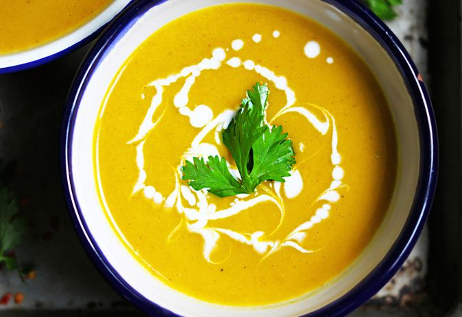 Golden Curried Red Lentil, Vegetable & Coconut Soup - Clean Wellness