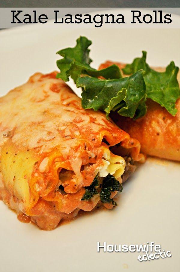 Kale Lasagna Rolls | Dinner Must Do! | Pinterest