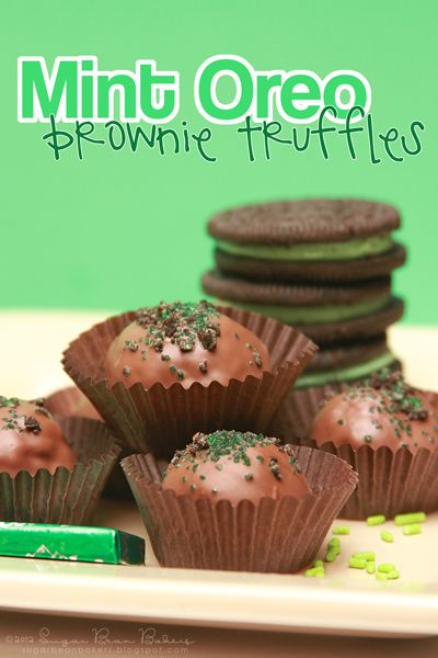 Mint Oreo Brownie Truffles. That's right.