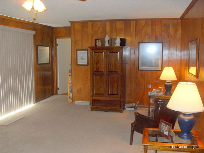 Den Before Painting The Paneling Home Decor Style