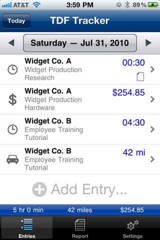 time tracker app iphone