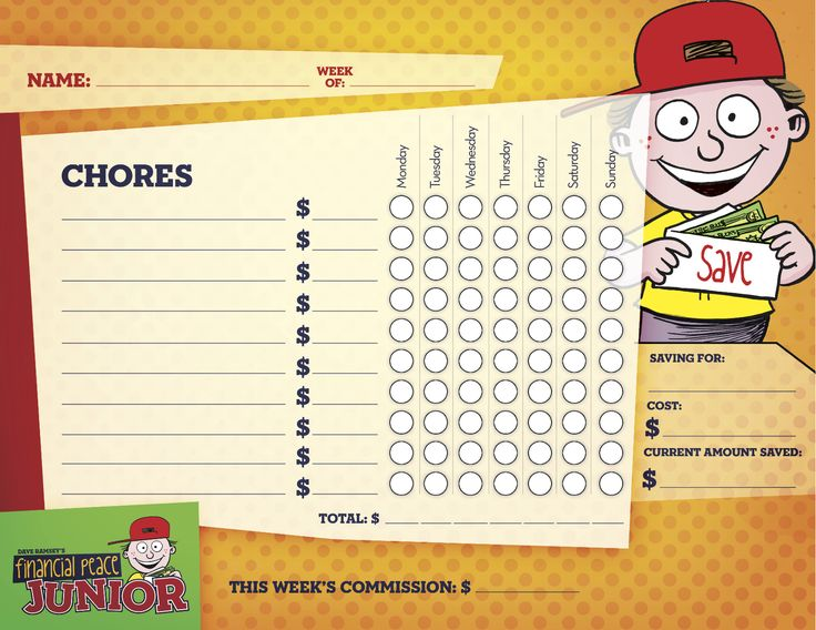 dave ramsey kids chore chart | For my Kensie | Pinterest