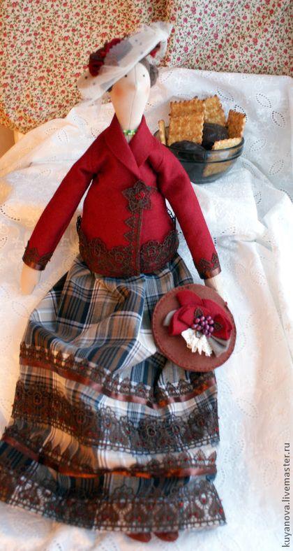 Куклы Тильды ручной работы.  Ярмарка Мастеров - ручная работа Вишня в шоколаде.  Ручная работа.