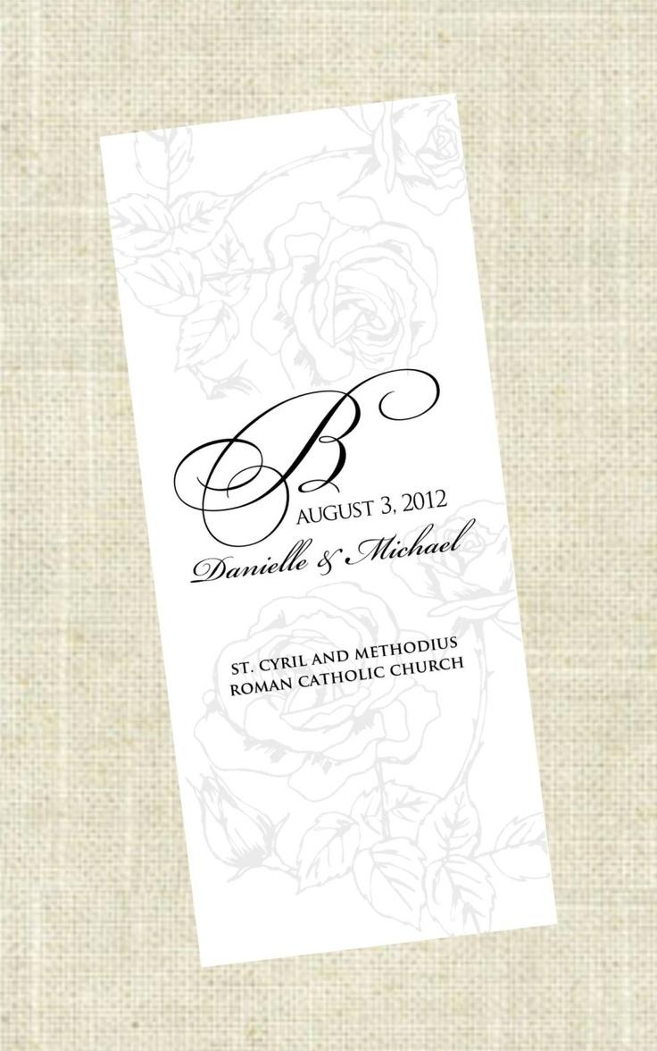 Tri Fold Printable Wedding Program
