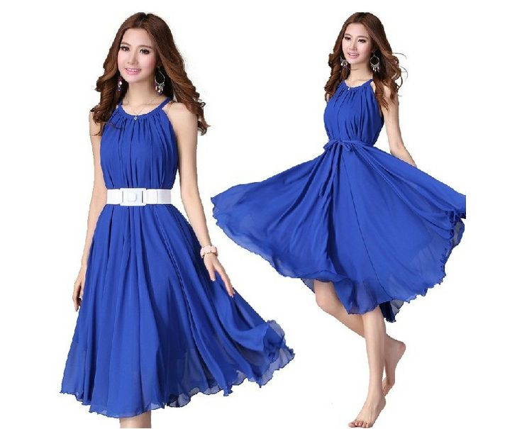 blue evening short dresses