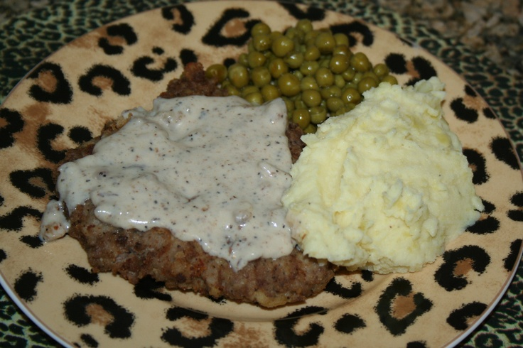 Chicken Fried Steak & Cream Gravy | From Blogs I like | Pinterest