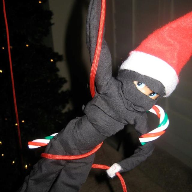 Elf on the shelf : ninja