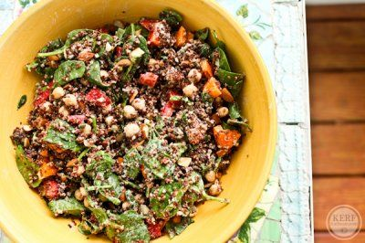 Moroccan-Inspired Quinoa Salad: I love the addition of dried fruit and ...